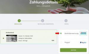 Zahlungsmethode auswählen