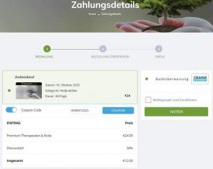 Coupon angewendet